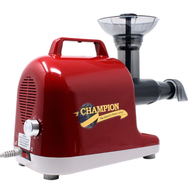 Champion Juicer | Champion Professional 5000 Dual Auger Masticating Juicer in Cherry Red | Shop Juicers